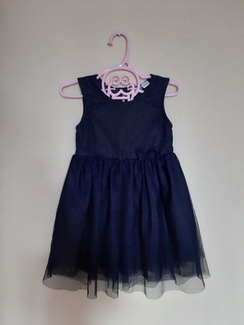 Granatowa balowa sukienka 98