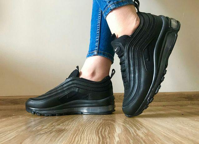 Buty Nike 97. Rozmiar 37. Kolor cały czarny. Świetna cena