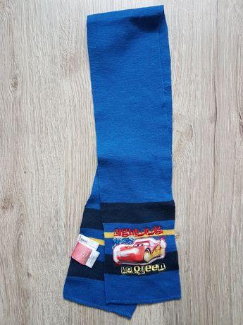 Szalik niebieski dla chłopca Mc Queen