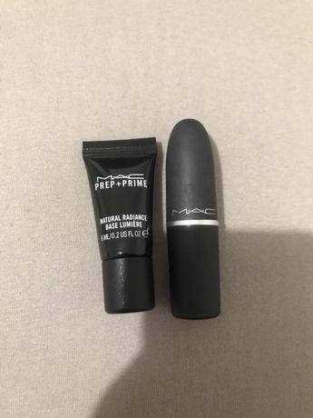 Pomadka/szminka + baza MAC zestaw
