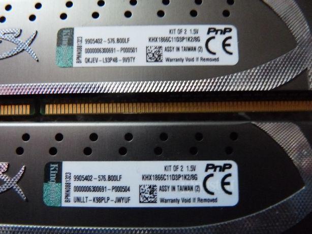 DDR3 8 GB Kingston Hyper 2*4GB 1866Mhz