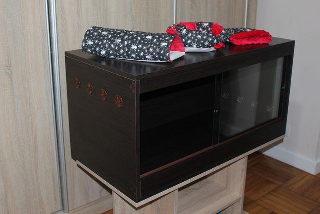 Terrarium 100x50x50 Wenge dla jeża. Dostępne od ręki, możliwa wysyłka