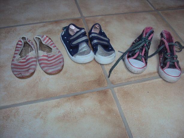 Buty trampki tenisówki 23 trzy pary 20 zł