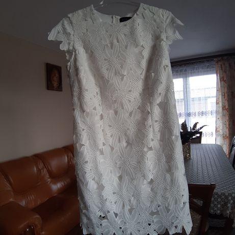 Sukienka MOHITO 38 gipiura ażurowa wesele