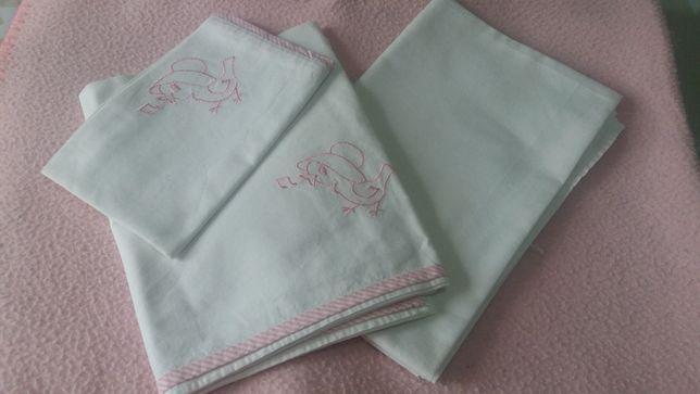 Roupa cama bebé lençóis e mantas