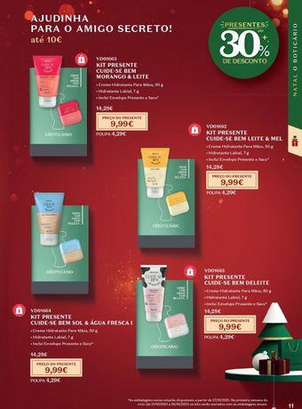 Kits de Natal Boticário até 10€