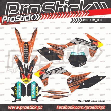 Kit autocolantes KTM EXC SX 2011 15