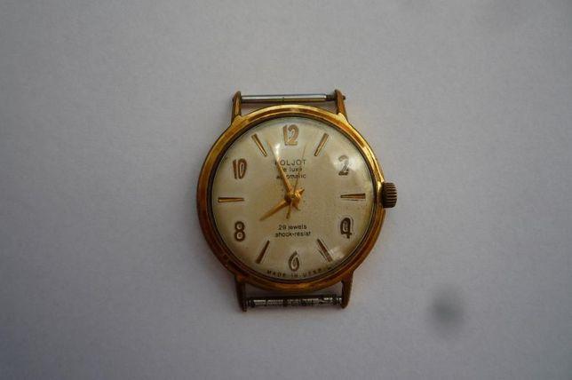 Zegarek naręczny męski Poliot de lux automatic pozłacany