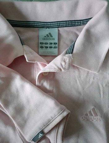 Adidas koszulka polo pudrowy róż rozmiar L