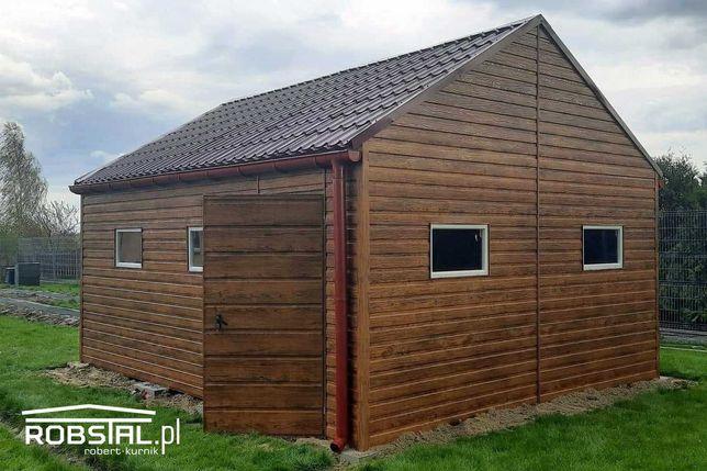 Garaż Premium 3x5 Drewnopodobny Panel Poziomy