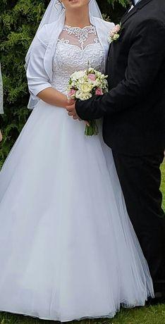 Suknia ślubna rozm. 36 38 Gratis ozdoby do włosów