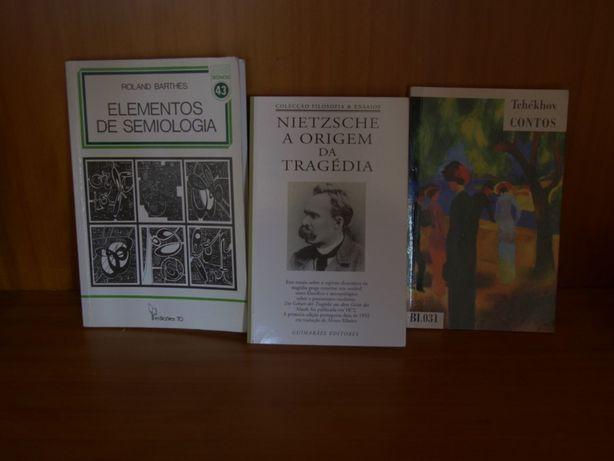 Livros (Roland Barthes, Nietzsche,Tchekhov)