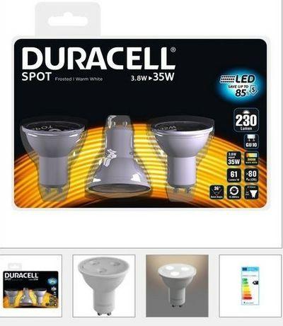 3 Żarówki LED GU10 3.8 W DURACELL