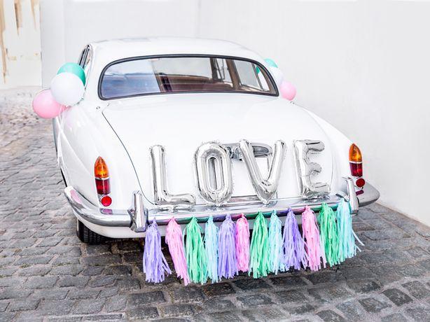 Dekoracja Samochodu Ozdoby Na Auto Do Ślubu Zestaw