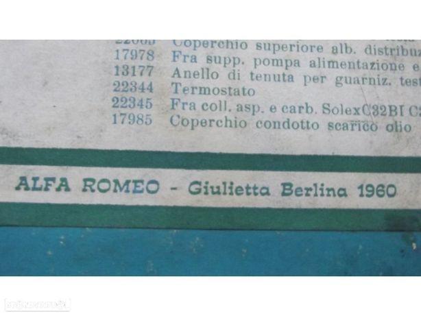 alfa romeu giulietta  1980 jogo de juntas completo