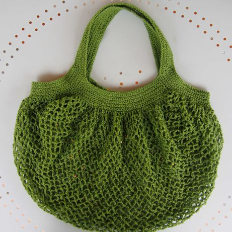 Szydełkowa siatka w kolorze wiosennej zieleni handmade
