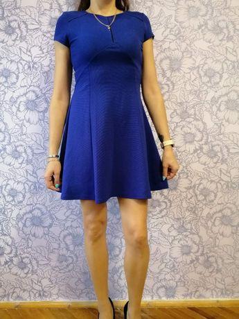 Плаття трапеція синього кольору
