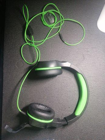 Fones Gaming HP Verdes e Pretos