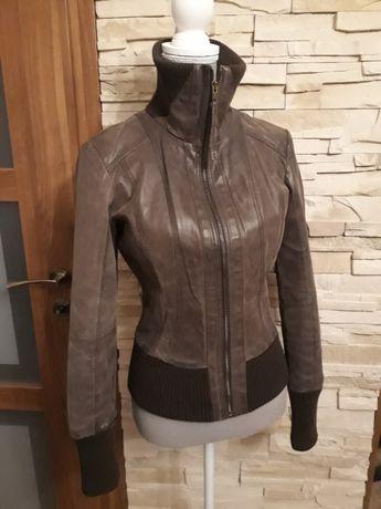 Skórzana kurtka w kolorze mocca Vero Moda