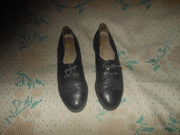 Туфли серые кожаные Rjasan West 4 1/2 - 37