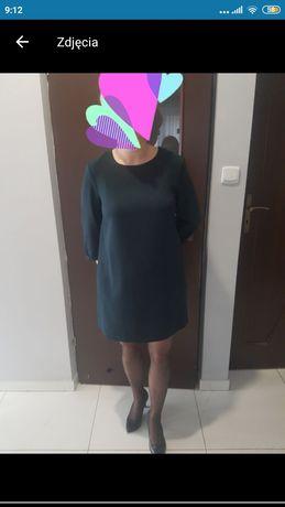 Sukienka czarna, dzianina