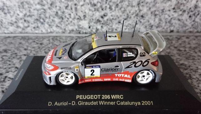 Peugeot 206 WRC - D.Auriol-D.Giraudet / Winner Catalunya 2001 /1/43