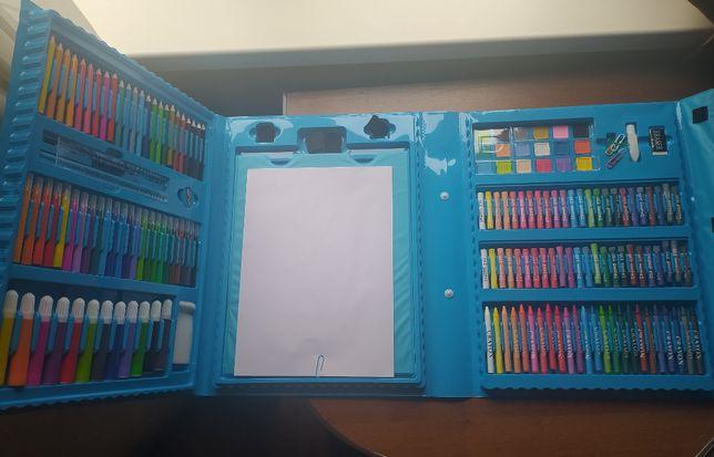 Великий набір для малювання з мольбертом + 10 розфарбовок у ПОДАРУНОК!
