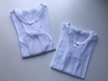 Białe bluzki roz 116-122