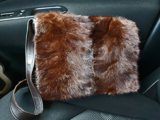 Сумка , шикарнейшая , кожа + натуральный мех норки, 350 грн