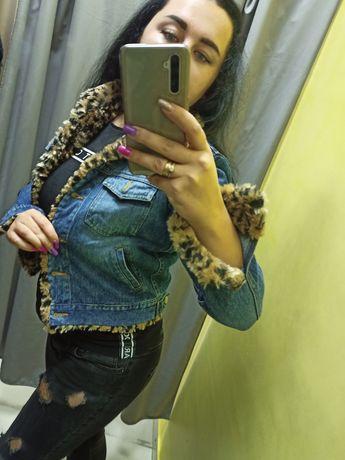 Теплая джинсовая куртка джинсовка джинсовый пиджак