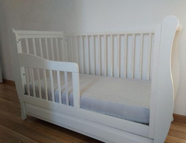 Łóżeczka białe Gala z materacem