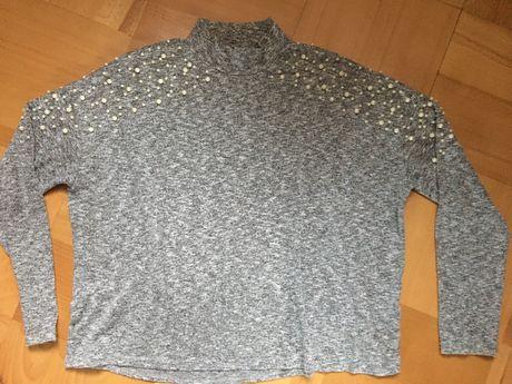 Sweter bluzka perełki H&M r. M
