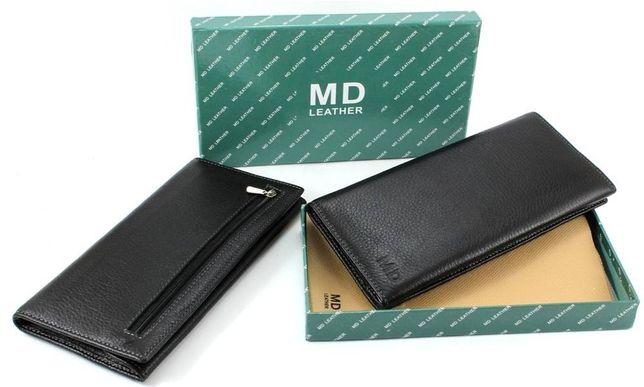 Мужский кошелек купюрник кожаный на магнитах фирмы MD Leather