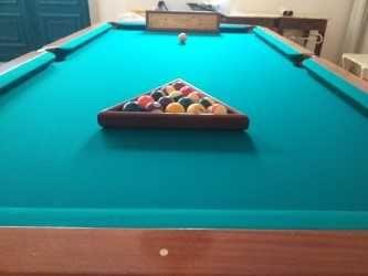 Mesa de Snooker C/ Acessórios e Candeeiro