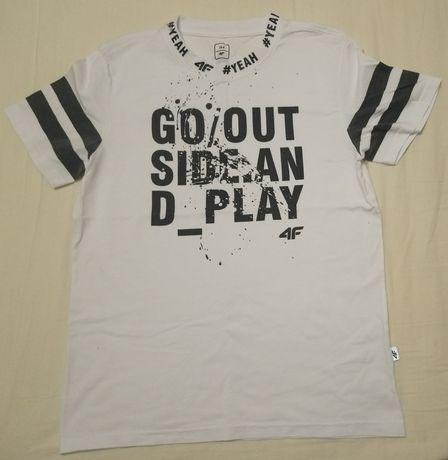 Koszulka 4F biała nowa 164
