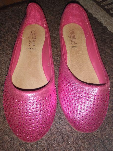 Różowe baleriny dla dziewczynki r.32