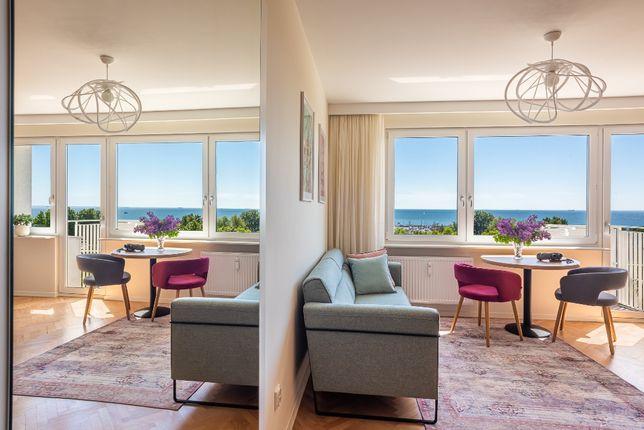 Apartament Gdynia Śródmieście Skwer Kościuszki z widokiem na morze