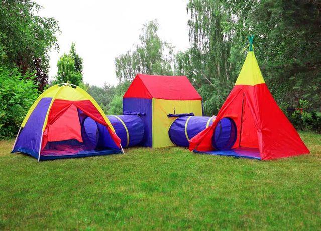 Zestaw namiotów dla dzieci 5 W 1 PLAC ZABAW tunele