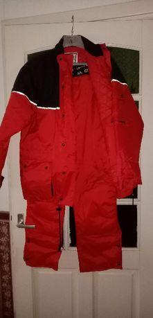 Motocyklowa kurtka i spodnie nieprzemakalne ocieplone firmy MQP