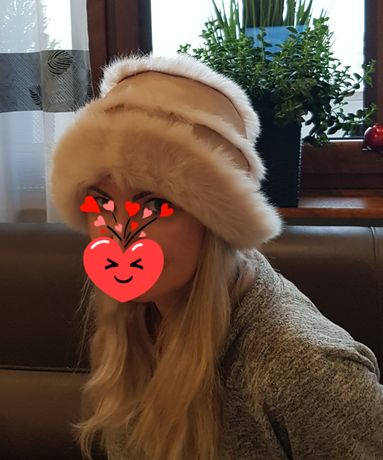 Skórzany kapelusz zimowy Czapka zimowa