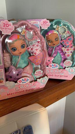Baby born mermaid принцеси ванна кукла пупс