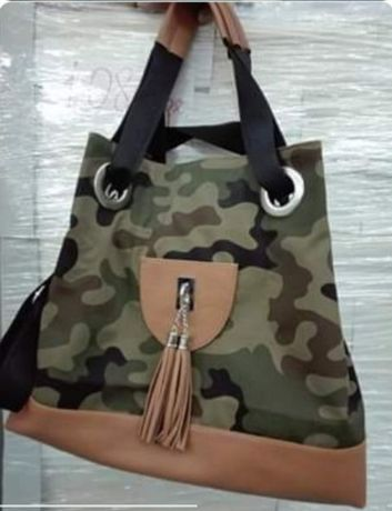 NOWA torebka szyta na zamówienie moro