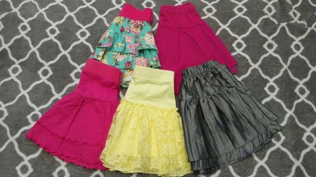 Spódniczki dla dziewczynki 4-6 lat (5 szt.)