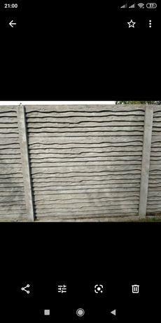 Забор из бетона (еврозабор),антипарковочные полусферы.