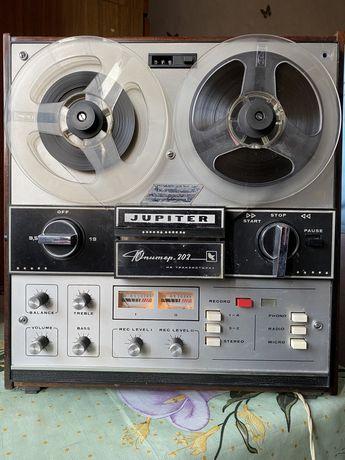 Бабинный стерео проигрыватель магнитофон СССР Юпитер 202