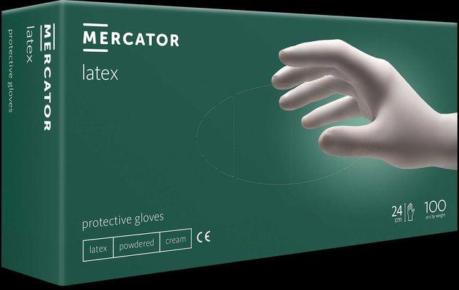 Rękawiczki lateksowe Mercator Medical opakowanie 100 szt