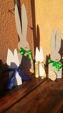 Zajączki/króliki drewniane ręcznie robione