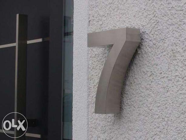 Números residenciais de Inox - Nr. 7 em 3D para Portas ou Entradas