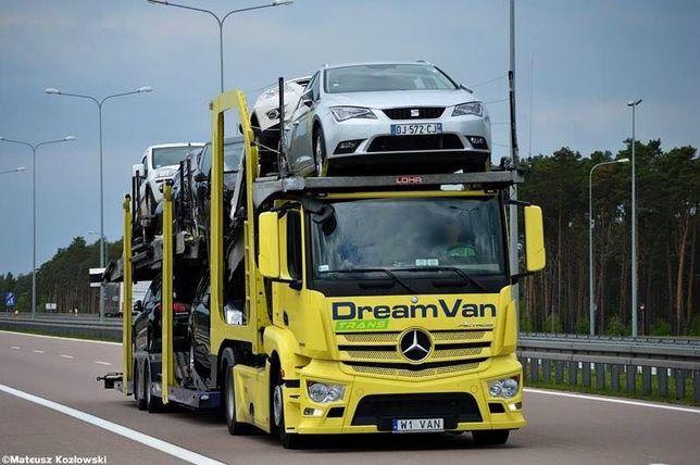Transport aut z Francji Belgi samochodu samochodów Francja Lora lohr