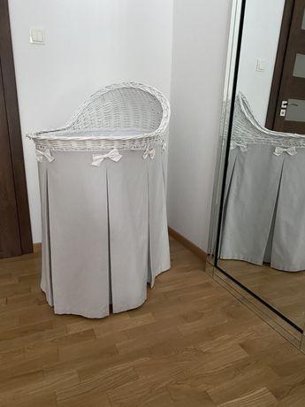 Łóżeczko Kołyska Caramella Wiklinowe Mobilne biale Rozenek